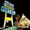 AKUA Motor Hotel - Anaheim, Calif. - Sign by Rocket Neon (hmdavid) Tags: anaheim motel sign design disneyland rocketneon tiki polynesian plastic 1960s akua motor hotel