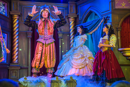 Beauty and the Beast show at the Royal Theatre in Disneyland