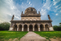 Majestic Qutub Shahi Tombs of Hyderabad. (ashwin647) Tags: hyderabad india indiapictures qutubshahitombs architecture ramadan cityscape nature trees green sky clouds goldenhour sunset nizam deccan