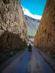 Amanda enjoying the tight canyon roads near Chiquiran.