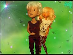 A magical glow (Seiji-Univers) Tags: seiji seijiunivers doll virtual background draw digital landscape magic glow tan circus kane circuskane ckdolls mroh oh nympheasdolls joy family brother sister