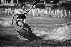kitesurf #2 (ROSSANA76 Getty Images Contributor) Tags: kite surf surfing bianco nero maro sport hobby turismo relax allenamento uomo corpo onde vento gocce schizzi velocità mare life sun one power marino paesaggio sud adriatico