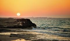 Summer Sunset .. (Hazem Hafez) Tags: northcoast sea pier sun sunset sand rocks horizon summer