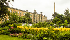 222a-  Saltaire - Allotments between Salts Mill and village (1 of 1) (md2399photos) Tags: 2jun17 almshouses davidhockney robertspark saltaire saltaireunitedreformedchurch saltsmill victoriahall