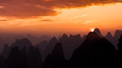 Hold Your Breath (Anna Kwa) Tags: sunrise sky clouds xiangonghill 相公山 karstmountains yangshuo guilin guangxi china annakwa nikon d750 afsnikkor70200mmf28gedvrii my always holdyourbreath moment photoshopbyhg seeing heart soul throughmylens vielendank hanszimmer oogwayascends travel world hope destiny fate