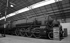 0746 031 steam locomotive BW (PhillMono) Tags: nikon d7100 dslr black white monochrome grey shade sepia leonardo da vinci science technology museum milan history heritage locomotive train steam italy travel tourist preserved creative perspective artistic