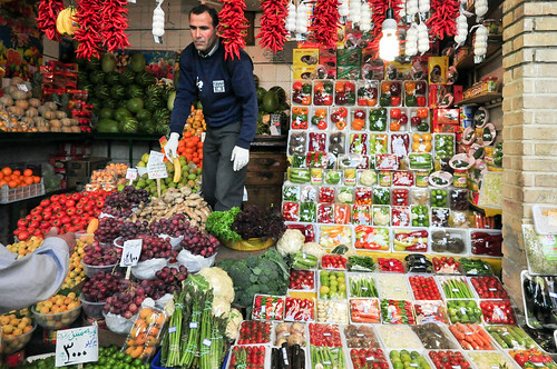 vegetables shop, Tehran