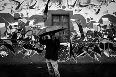 Rain issues. México City downtown. (Christian S. Mata) Tags: rain umbrella heavy a6000 1650 bw bnw blackandwhite blackwhite mexico downtown city street