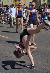 Sticking The Landing (swong95765) Tags: girl kid gymnastic flip stunt acrobatic skill balance coordinadion parade