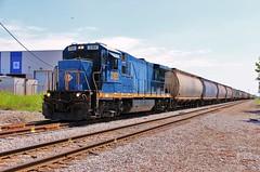 YN3 Super 7 (BravoDelta1999) Tags: ohiocentral ohcr railroad baltimoreandohio bo railway cassidyavenue columbus ohio ge b23s7 3185 manifest train yn3 paintscheme