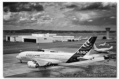 "A little ""Plus"" ... (Laurent CLUZEL) Tags: nikon d610 2470 28 lbg lfpb airbus a380 plus le bourget nb bw"