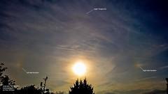 Parhelia (Sundogs) & Upper Tangent Arc 19:00BST 07/07/17 (Spicey_Spiney) Tags: parhelion sundog atmosphericoptics opticaleffects cirruscloud
