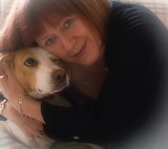 52 Weeks - Week 28 - Hugging Holly (World of Izon) Tags: 52weekproject selfportrait dog beagle soft focus hugging