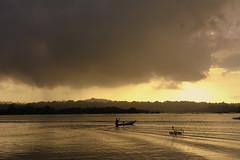 Floating with the clouds (R3VNAT) Tags: nature lake water hills clouds sunset boat boatman waves kaptai rangamati bangladesh
