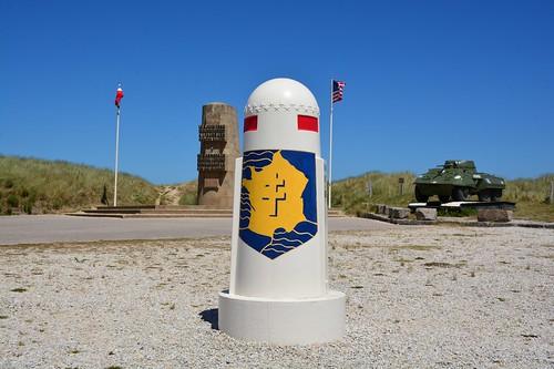 Monument du débarquement de la 2ème Division Blindée (Normandie, France 2017)