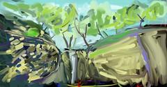 cascade du bout du monde (messerchristophe) Tags: cascade du bout monde bourgogne dessin numérique