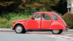 Citroën 2CV 1988 (XBXG) Tags: lvpp47 citroën 2cv 1988 citroën2cv 2pk deuche deudeuche eend geit 2cv6 red rood rouge overveen nederland holland netherlands paysbas vintage old classic french car auto automobile voiture ancienne française vehicle outdoor