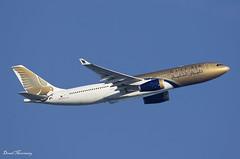 Gulf Air A330-200 A9C-KD (birrlad) Tags: heathrow lhr international airport london uk aircraft aviation airplane airplanes airline airliner airlines airways takeoff departure departing climbing banking airbus a330 a332 a330200 a330243 a9ckd gulfair gf2 bahrain