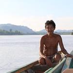 Fisher, Mekong River, Cambodia. Photo by Samonn Mith, 2016. thumbnail