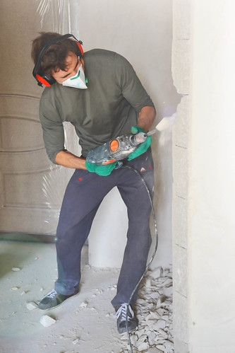 Renovierung mit Presslufthammer