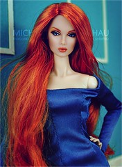 Eden (Michaela Unbehau Photography) Tags: integrity toys eden style mantra dress vjhon fashion royalty fr fr2 nuface michaela unbehau blue redhead portrait doll dolls toy photography