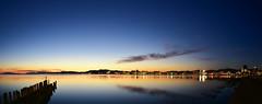 Sunset View Panorama (Yohsuke_NIKON_Japan) Tags: shimane matsue lake lakeshinji sunset panorama d750 nikon 1635mm wide sanin dusk view water longexposure 島根 松江 宍道湖 夕日 パノラマ 山陰 湖畔 湖