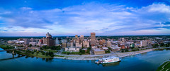 Downtown Memphis, TN (tmalone893) Tags: pano memphis tennessee tn mississippi river dji mavic aerial city
