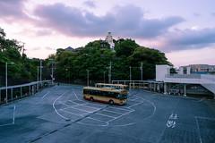 Bus Terminal (maida0922) Tags: a7r variotessartfe1635mmf4zaoss japan kanagawa kamakura ofuna bus terminal stop automobile public transport kannon temple buddhist statue hill street town urban cloud sunset vehicle
