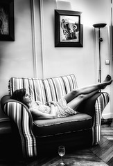 The decision chair (D.H.S Photography) Tags: ifttt 500px portrait girl people vintage glamour lamp monochrome paris chair seat one room wine furniture inside indoors beautiful