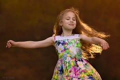 Twirling! (Aga Wlodarczak) Tags: child girl naturallight outdoor twirling backlit sunset goldenhour 6d canon 135mmf2 135mm
