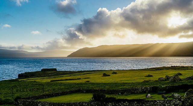 Sunset at Kirkjubøur - Faroe Islands
