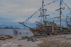 Spirits of The Black Pearl (stephenmulvaney) Tags: thewirral rivermersey pirateshipnewbrighton blackpearlnewbrighton pirateships longexposure bigstopper black pearl pirate ship