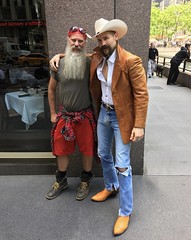 Hanging with this Cowboy (Cowboy Tommy) Tags: cowboy nyc beard sex sexy stache mustache crotch tight package jeans denim lanky hot rugged manly hairy