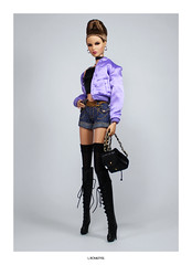""""""" Make' em whistle like  A missile bomb bomb """" (L.Royalty55) Tags: fashionroyalty nuface nu face ayumi nakamura totalbetty recklesscollection fr fr3 fashion doll thegirlfromintegrity integritytoys it barbie"""