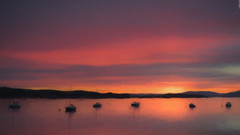 Fairlie Harbour (Images by William Dore) Tags: painterly ayrshire scotland uk nikon sunset goldenhour seascape magichour colours landscape outdoors outside boats firthofclyde water watercolour