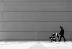 Father And Child (CoolMcFlash) Tags: candid person streetphotography man child family negativespace copyspace canon eos 60d vienna mann kind familie fotografie photography bnw blackandwhite blackwhite sw bw schwarzweis tamron a007 2470