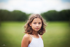 (Rebecca812) Tags: girl child wind nature wild wideopen hair whitedress innocent tween childhood 10 brownhair hazeleyes portrait people real symmetry centered canon beauty bluesky greengrass rebecca812