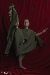 Bella (the side projects by dews) Tags: girl dance artistic posing redbackground younggirl expression flexibility
