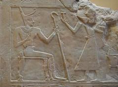 King Montouhotep receives gifts - Egyptian, ca 2000 BC (Monceau) Tags: louvre muséedulouvre kingmontouhotep stone carved 2000bc relief egypt