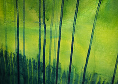 Runs 1 (S's images) Tags: littlehampton way out there back garden paint runs abstracts yellow green blue