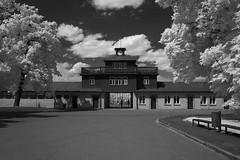 Konzentrationslager Buchenwald (Alf Layla wa Layla) Tags: konzentrationslager kz concentrationcamp buchenwald tor gate infrared infrarot ir