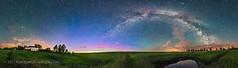 Solstice Skyglow Panorama (Amazing Sky Photography) Tags: 360° alberta aurora bigdipper june m31 milkyway ptgui polaris saturn airglow farm home latitude51 lightpollution midsummer nightsky northernsky panorama skyglows solsticesky stars