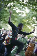 the dancer (piktorio) Tags: berlin germany strret park streetparty kdk17 drums percussion man dancer people audience openair energy senegal piktorio african dance