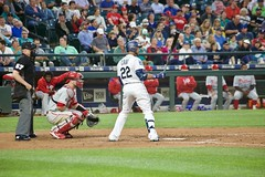 Robinson Cano at the plate (hj_west) Tags: baseball philadelphiaphillies seattlemariners safecofield mlb interleague stadium night sports