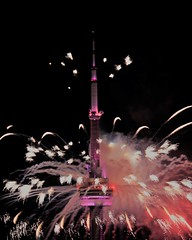 Happy Birthday Canada - 150 years young! (NoiseJammer) Tags: canadaday 2017 cn tower fireworks apm takahashi refractor telescope