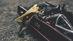 So long old chum. (3rd-Rate Photography) Tags: batman robin adamwest batmobile dccomics sad canon 50mm 5dmarkiii jacksonville florida 3rdratephotography earlware toy toyphotography actionfigure