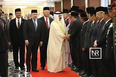 Istiadat sambutan negara sempena lawatan YMM Raja Hamad bin Isa Al Khalifa,Raja Bahrain Ke Malaysia.Parlimen,1/5/17 (Najib Razak) Tags: rajabahrainkemalaysiaparlimen istiadat sambutan negara sempena lawatan ymm raja hamad bin isa al khalifa bahrain ke malaysia