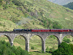 "The passing of ""The Jacobite"" at Glenfinnan (Jelltex) Tags: thejacobite glenfinnan steam black5 jelltex jelltecks"