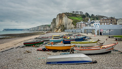 Yport plage. (musette thierry) Tags: france yport europe plage port barque falaise cabine musette thiery panorama normandie seinemaritime touriste vacance