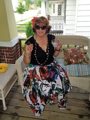 Cheers! (Laurette Victoria) Tags: cocktail porch skirt auburn sunglasses laurette milwaukee